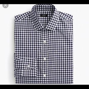 J Crew NWT Ludlow Spread-Collar Shirt/Navy Gingham